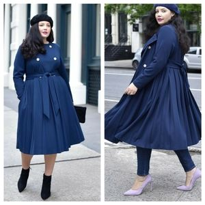 Girl with Curves x LB Pleated Trench /Dress